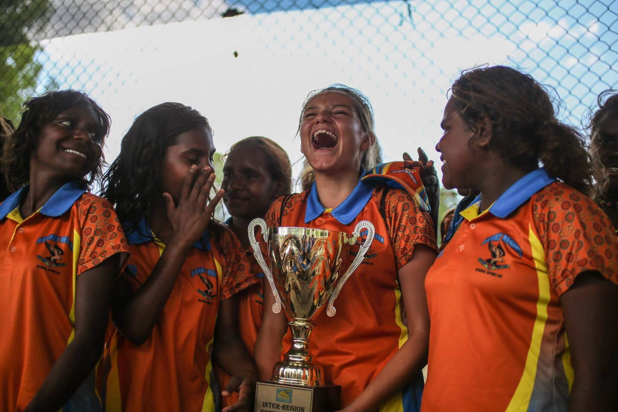 Team championship win smiling portrait